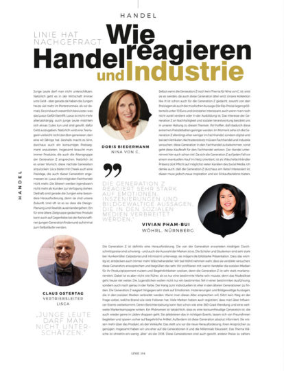 Linie International 01/2020: Generation Z Handel & Industrie