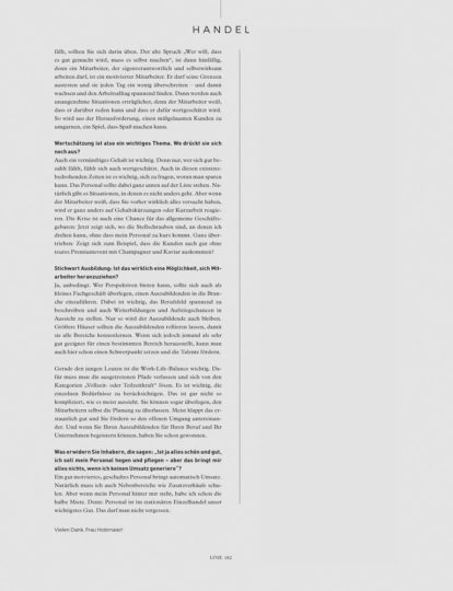 Linie International 03/2020: Personalgespräch Interview